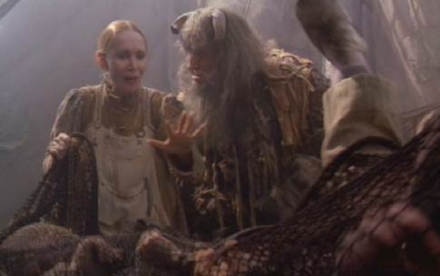 Time Bandits: The Ogre's wife suggests he terrify his catch a little.