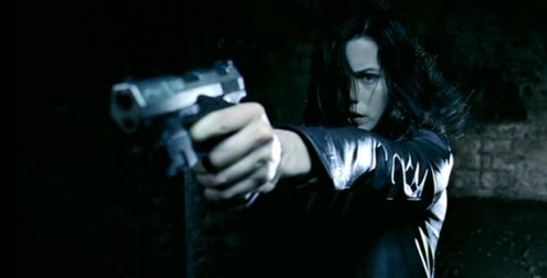 Underworld: Kate Beckinsale, unlikely action star.