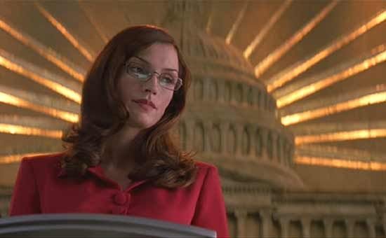 X-men: Dr. Jean Grey (Phoenix) testifying before the Senate in opposition to laws resticting mutants.