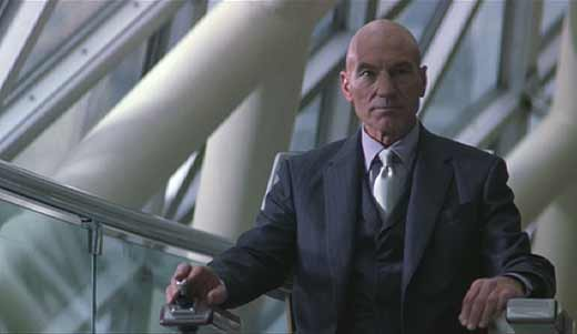 X-men: Professor Charles Xavier confronting Erik Lehnsherr - Magneto - at the Senate hearings.