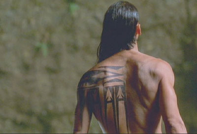Brotherhood of the Wolf: Closeup of the tattoo (and the back.)