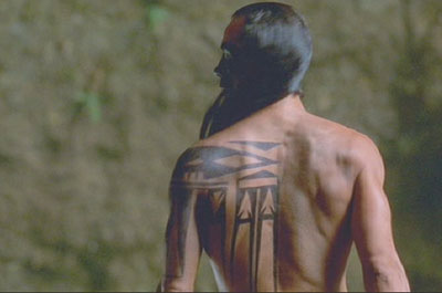 Brotherhood of the Wolf: Mani's back tattoo.