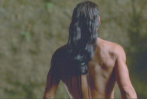 back tattoo native Iroquois Brotherhood of the Wolf: Mani as played by Mark