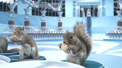 Charlie and the Chocolate Factory: The Sorting room.  I love the squirrels.