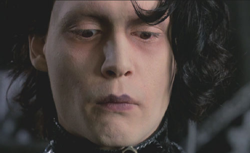 Edward Scissorhands: Edward's face, before he's scarred it.