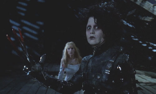 Edward Scissorhands: Edward defends himself and Kim from Jim.