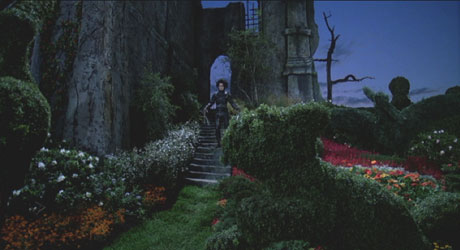 Edward Scissorhands: Edward, alone again in his castle.