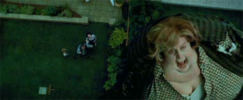Harry Potter and the Prisoner of Azkaban: The unhappy fate of Aunt Marge (Pam Ferris).