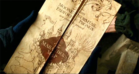 Harry Potter and the Prisoner of Azkaban: The Marauder's Map.