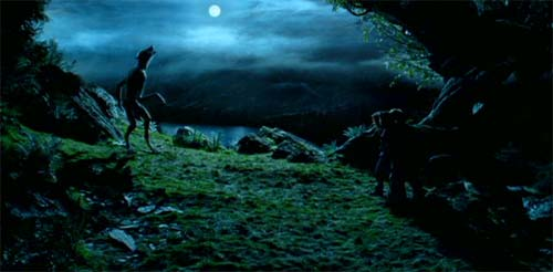 Harry Potter and the Prisoner of Azkaban: Lupin werewolf in the moonlight.