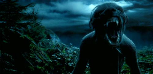 Harry Potter and the Prisoner of Azkaban: The werewolf threatens Harry.