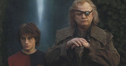 Harry Potter and the Goblet of Fire: Harry and his coach, Professor Moody, awaiting the final challenge.