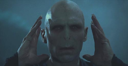 Harry Potter and the Goblet of Fire: Ralph Fiennes as Lord Voldemort.
