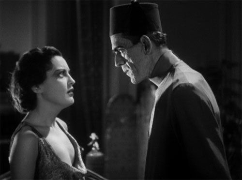 The Mummy (1932): Helen confronts the eerie, yet strangely compelling, Ardath Bey.