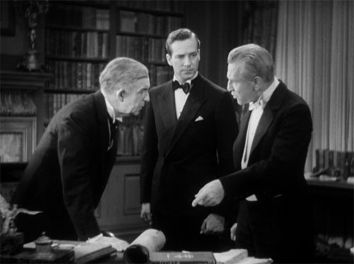The Mummy (1932): Meanwhile, in the next room, the fellas discuss how to save her (and themselves) from the Mummy's curse.