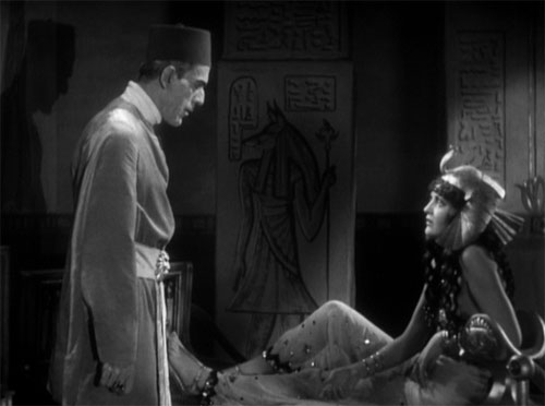 The Mummy (1932): Im-ho-tep (Ardath Bey) and Helen (Princess Anck-es-en-Amon)