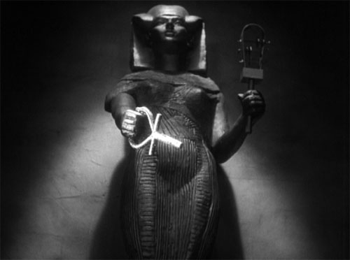 The Mummy (1932): Isis responds to Helen/Anck-es-en-Amon request for help and strikes Im-ho-tep down.