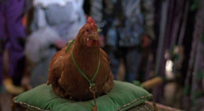 Return to Oz: Billina, the talking chicken, does the smart thing and remains in Oz.